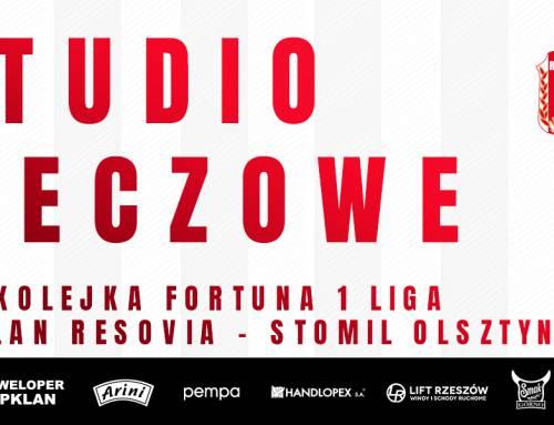 Bezpłatna transmisja i studio meczowe Apklan Resovia – Stomil Olsztyn