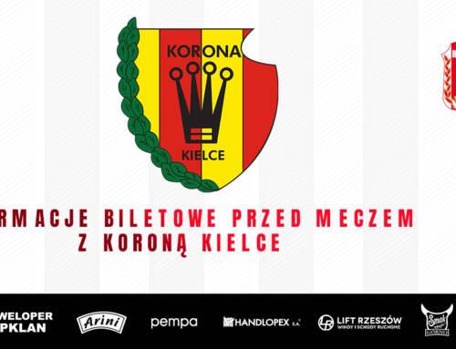 Informacje biletowe przed meczem z Koroną Kielce
