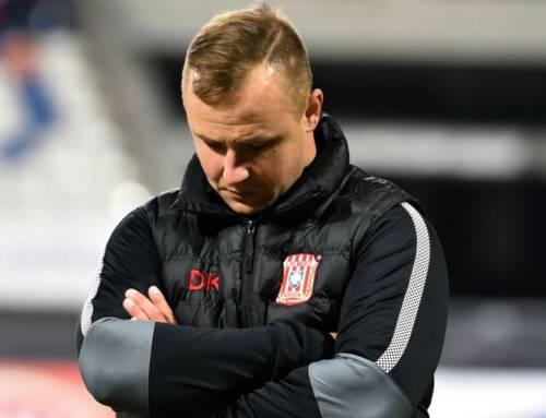 Dawid Kroczek  i Dawid Kubowicz po meczu z Arką Gdynia